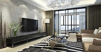 亮丽家园三室两厅现代设计