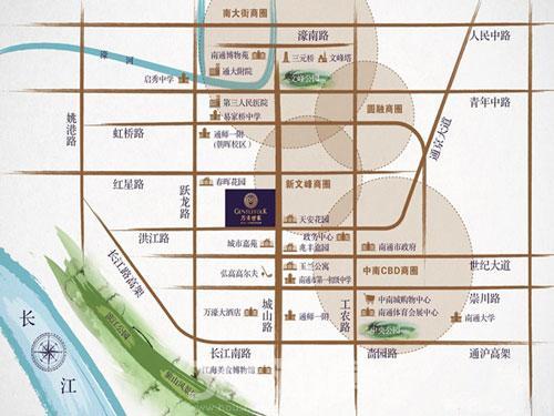 南通行政区域划分地图展示