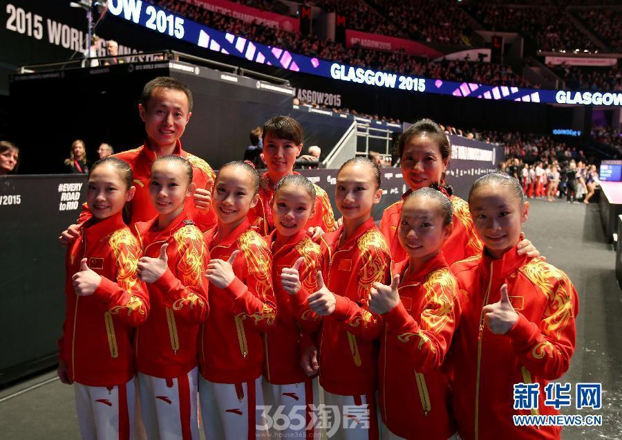 中国女队获得体操世锦赛团体亚军(图)