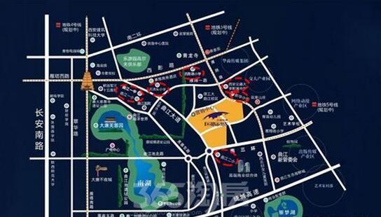 西安大学手绘地图