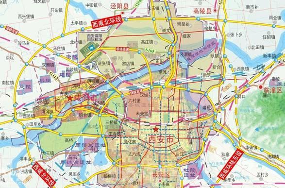 连霍高速西安至乌鲁木齐段地图