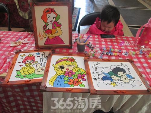 北城国际创意木板画diy活动缤纷幸福年