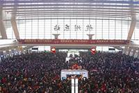 2月第一天杭州东站大面积晚点 整个候车大厅都是人!!!