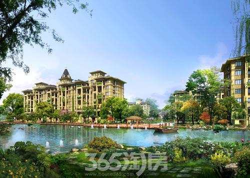 景观规划上,借鉴经典欧式园林风格,规划设计七重景观园林,乔木,灌木