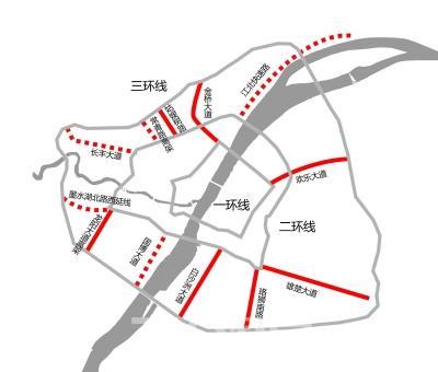 长江日报记者查阅工程设计方案时就发现,在谌家矶段,快速路被中央绿化