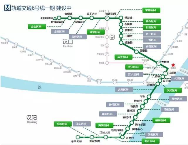 武汉地铁6号线线路图