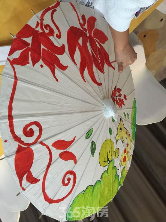 【南山国际社区】油纸伞创意diy绚丽开启