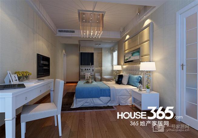 地中海89平米三房二厅二卫清新装修效果图