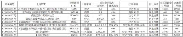 武汉市挂牌出让国有建设用地使用权