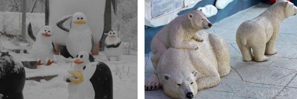 极地动物雕塑展