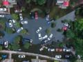 武汉大量汽车被淹