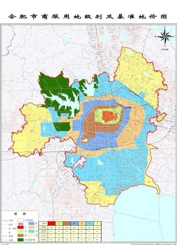 合肥市核心区住宅用地级别及基准地价首过1万元每平米
