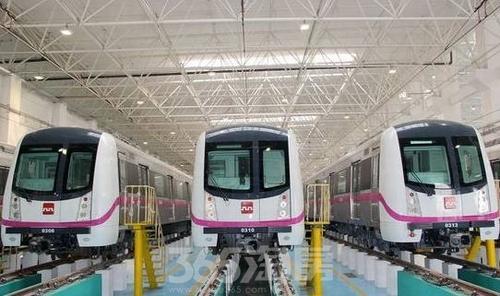 西安地铁三号线实景