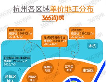 杭州各区域最新地王图