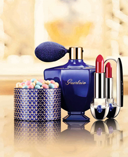 娇兰推出一千零一夜靛蓝玫瑰璀璨圣诞限量系列彩妆