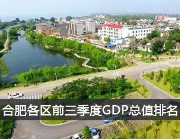 合肥各区前三季度GDP总值排名