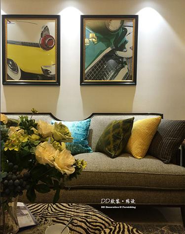 山居小调 现代美式样板房软装设计