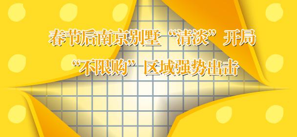 """春节后南京别墅""""清淡""""开局"""