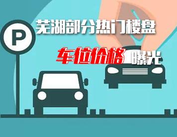 芜湖部分热门楼盘车位价格曝光