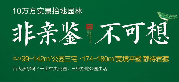长安城 10万方实景抬高园林住宅正在热销中