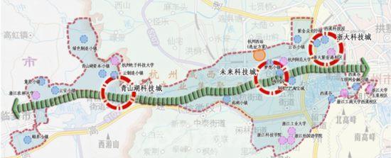 青山科技城区位图