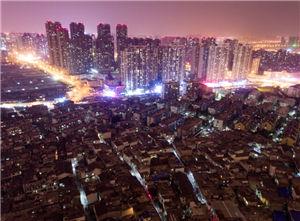 航拍合肥城中村:繁华背后的角落