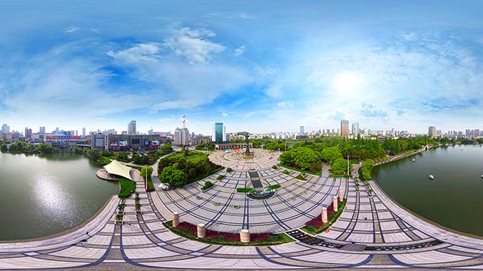 从上帝的视角俯瞰芜湖鸠兹广场