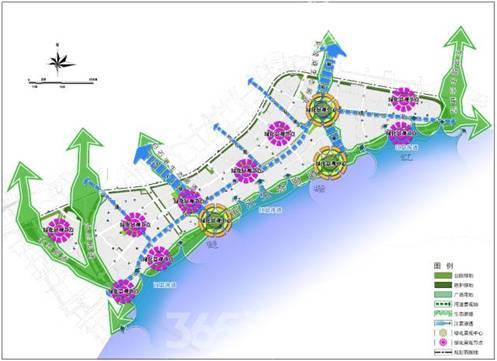 规划绿地与广场用地布局结构图(资料图片)