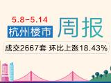 周行情:上周杭州商品房共成交2667套 环比上涨18.43%