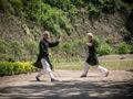 挪威双胞胎上了武当山 要学正宗太极拳