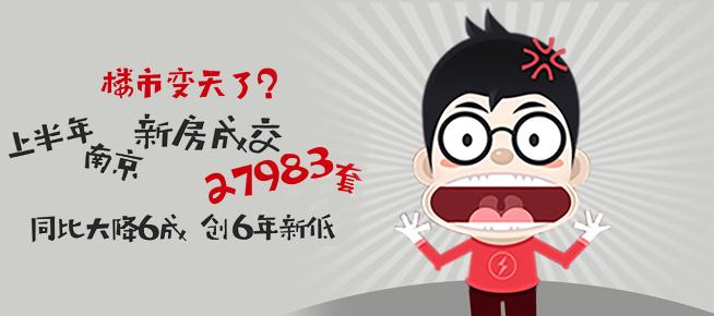 同比大降6成!上半年南京新房销量创6年新低!楼市变天了?