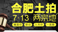 7月13日合肥土拍揽金67.1亿元