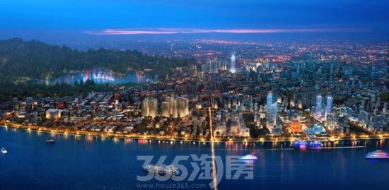 滨江保利翡翠海岸区域鸟瞰图(资料图片)
