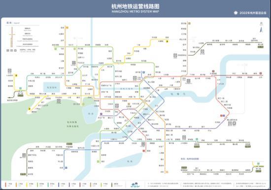 亚运前杭州地铁网示意图(资料图片)