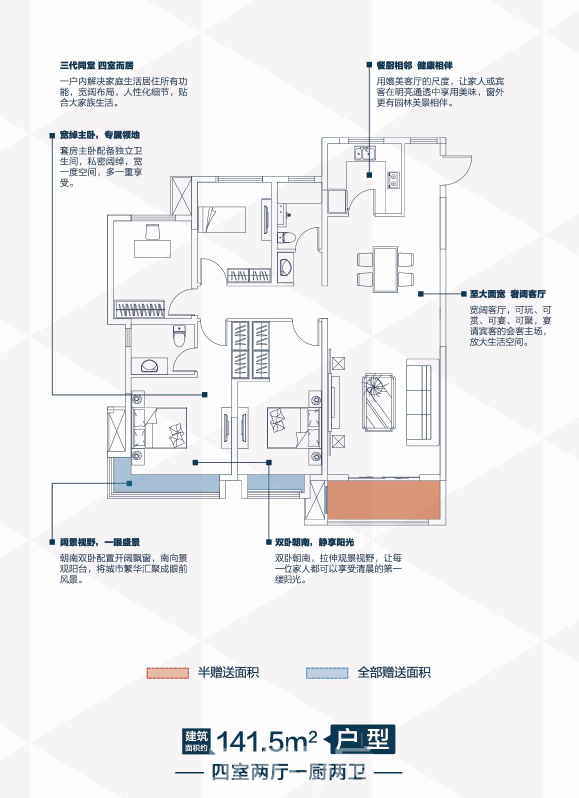 建面约142�O户型图 365淘房 资讯中心