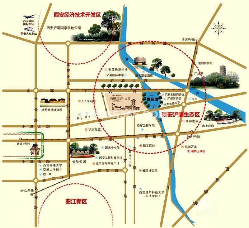 纳帕溪谷金源区位图