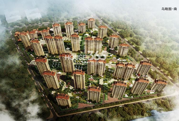 仁恒滨河湾项目整体鸟瞰图