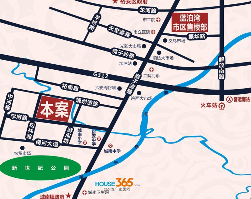 振华蓝泊湾交通图