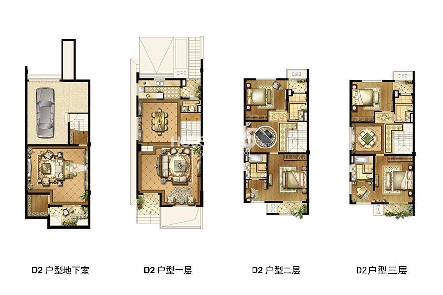长成锦溪禾府联排别墅标准层D2户型360平米