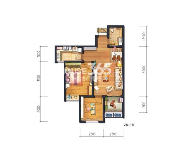 宫园美岸2#楼/3#楼C户型图