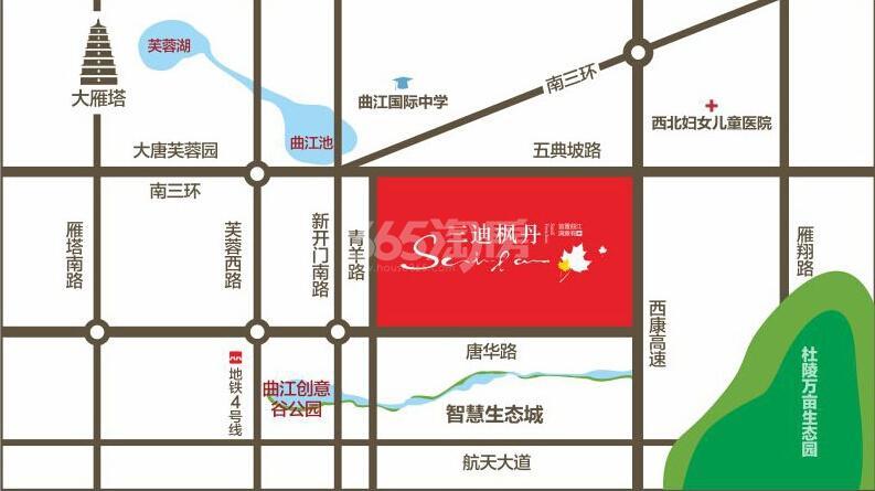 三迪枫丹交通图