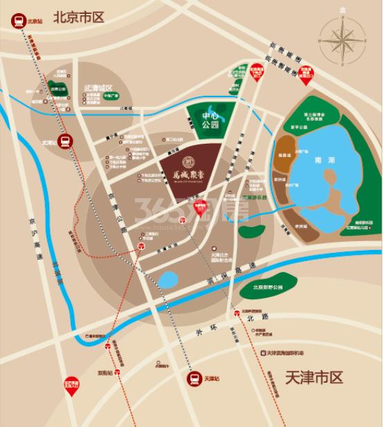 万城聚豪交通图
