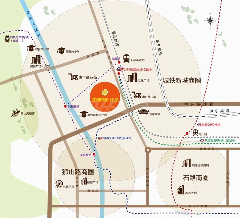 南山柠檬花园柠府交通图