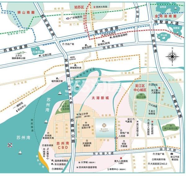 湾上风华交通图