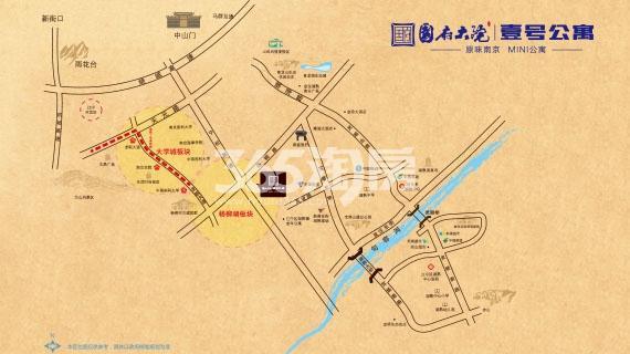 国府大院1号楼交通图