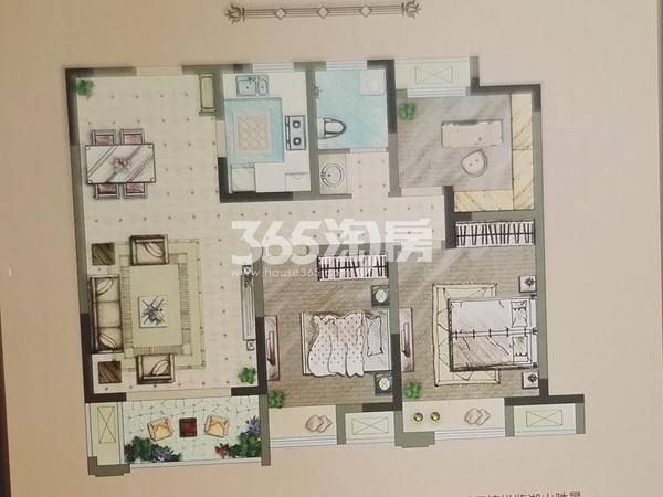 B2三室两厅一卫户型(95㎡)