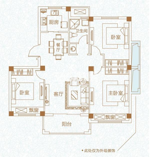 开元蓝庭97.86平户型图
