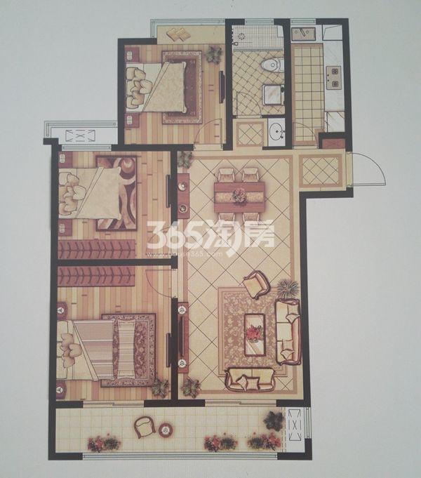 C-7三室两厅一卫户型(114-117㎡)