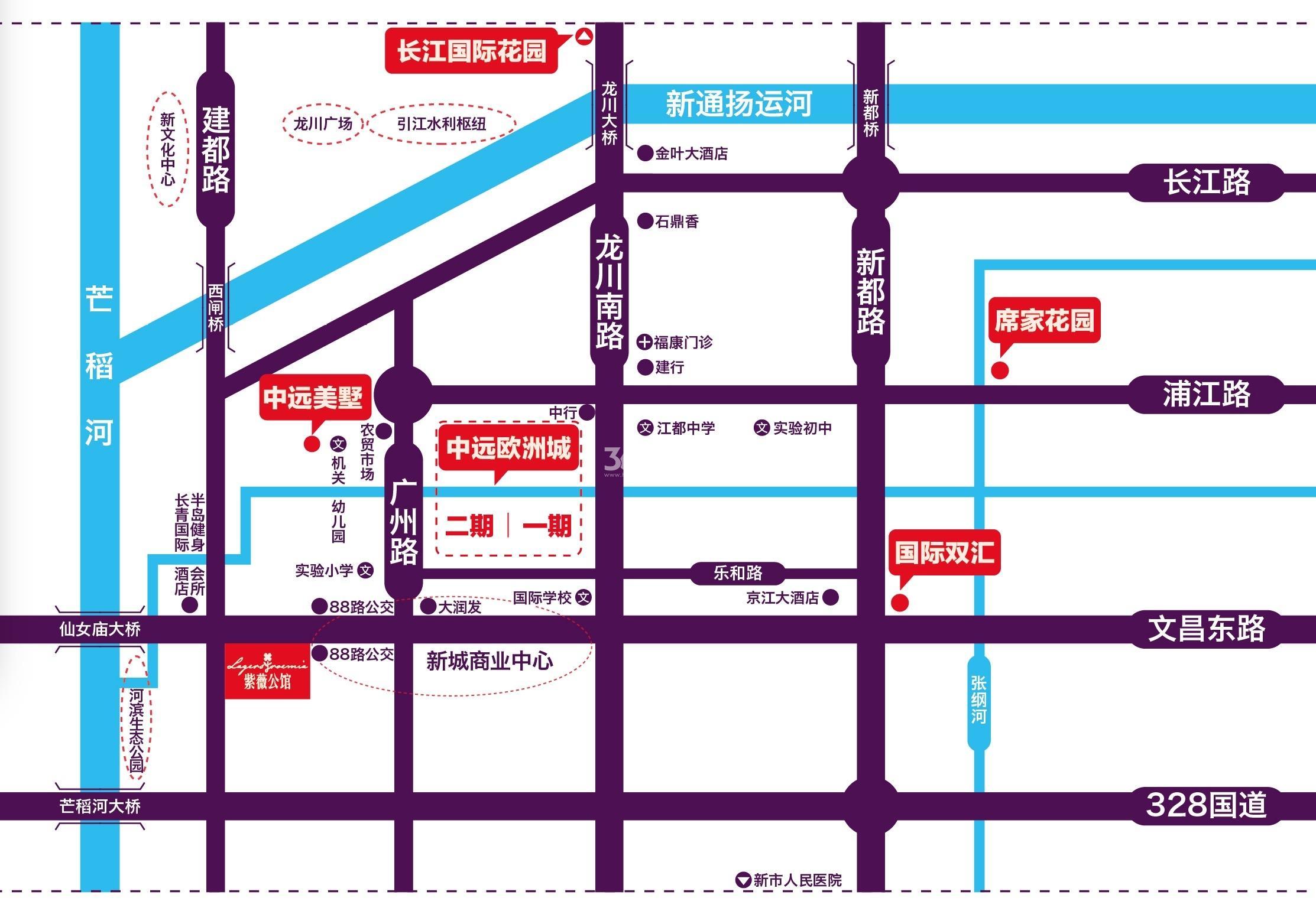 紫薇公馆交通图