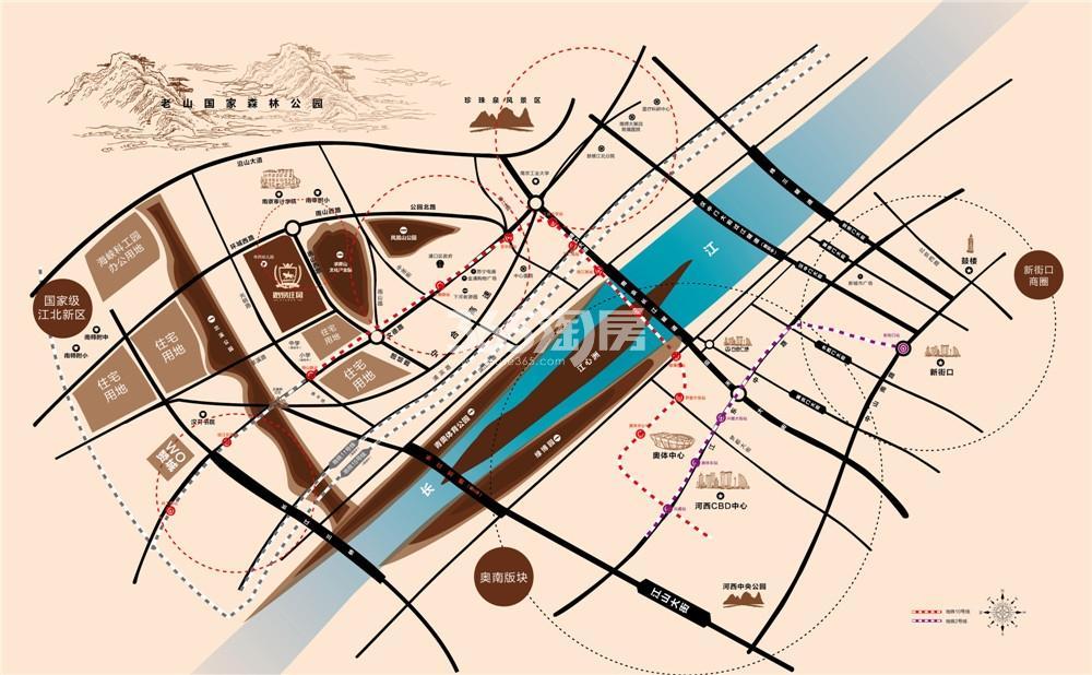 路易庄园交通图